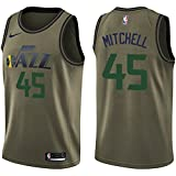 #6: NIKE Men's Utah Jazz #45 Donovan Mitchell Green Swingman Jersey Salute to Service