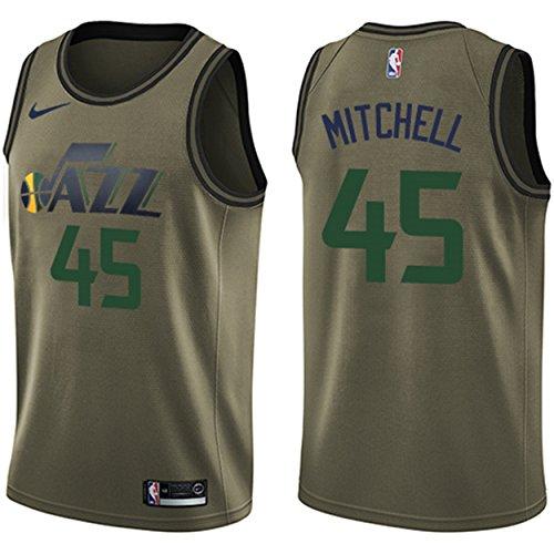 NIKE Men s Utah Jazz  45 Donovan Mitchell Green Swingman Jersey Salute to  Service - Buy Online in UAE.  941f01052