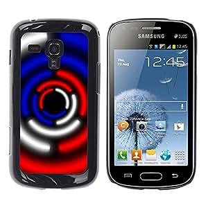 TopCaseStore / la caja del caucho duro de la cubierta de protección de la piel - Sci-Fi Lights Blue Red Black White - Samsung Galaxy S Duos S7562