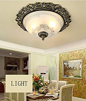 Hochwertig   Europäische Schlafzimmerdecke Dimmbare LED Retro Amerikanische  Küche Den Balkon Gang Eingang Kreis