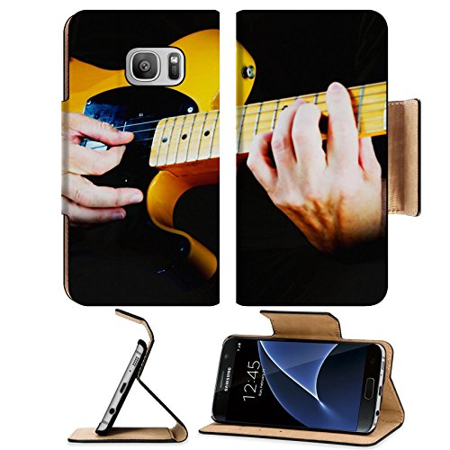 ung Galaxy S7 Flip Pu Leather Wallet Case IMAGE ID 31511074 Guitarist playing vintage fender telecaster guitar (Chargers Fender Purse)