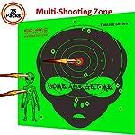 Neon Green Premium Grade Self Adhesive Shooting Targets Stickers-Zombie/Alien/UFO Shooting Target-Shots Burst Bright Fluorescent Green Upon Impact-Great for Long & Short Range Shooting