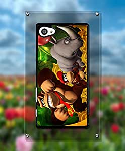 Cartoon Donkey Kong Funda Case For Sony Z5 Compact, Drop Resistant Creative Simple Design Tough Slim Fit Suitable For Sony Xperia Z5 Compact [Just fit for Z5 Compact]