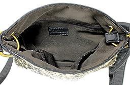 Scarleton Trendy Fabric Crossbody Bag H191401 - Black