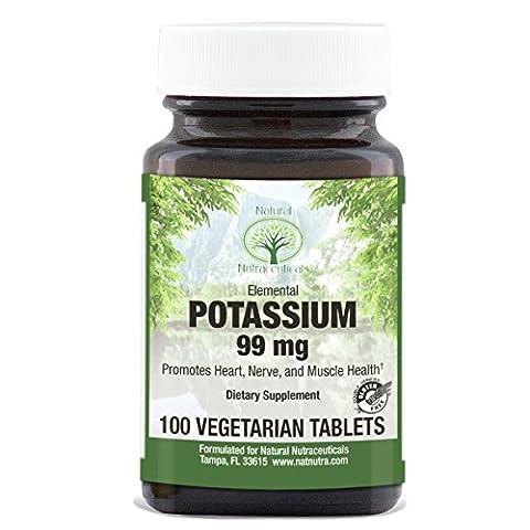 Natural Nutra, Premium Potassium Gluconate Supplement, 99 mg, 100 Tablets - Mag 250 Tabs