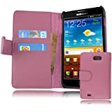 Cadorabo ®! Samsung Galaxy Note N7000 Leather cover fucsia