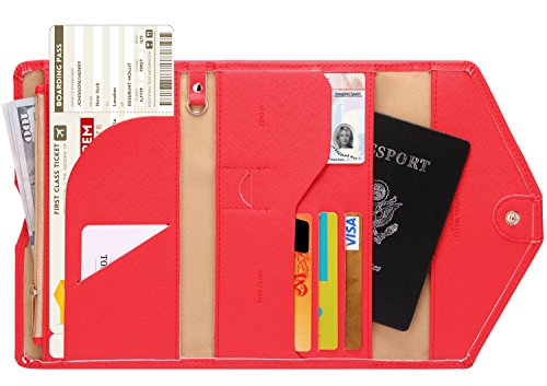 Zoppen Mulit-purpose Rfid Blocking Travel Passport Wallet (Ver.4) Trifold