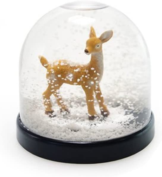 /&Klevering Funny Snow Globe 3.15  Hight 3.35  Diameter, Snowball with Bambi