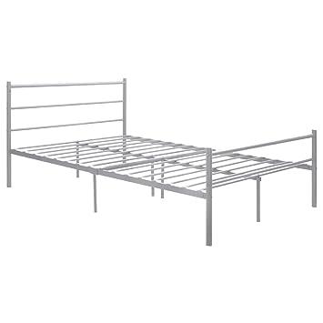 giantex sliver full size metal bed frame platform headboard 10 legs furniture bedroom full