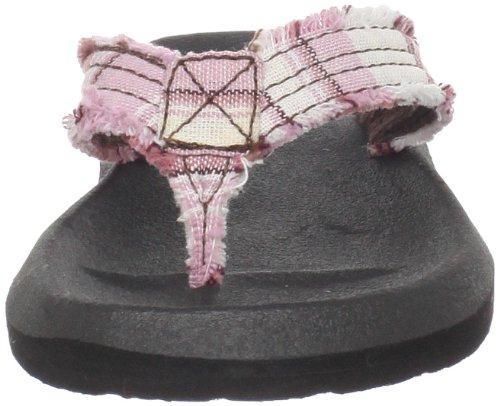 Sanuk Kids Whos Afraid 29418083 Unisex - Kinder Sandalen/Zehentrenner Pink (Pink/White)