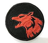 Wolf Head Morale Patch SWAT, Velcro Patch, Black / WHITE / 2.75