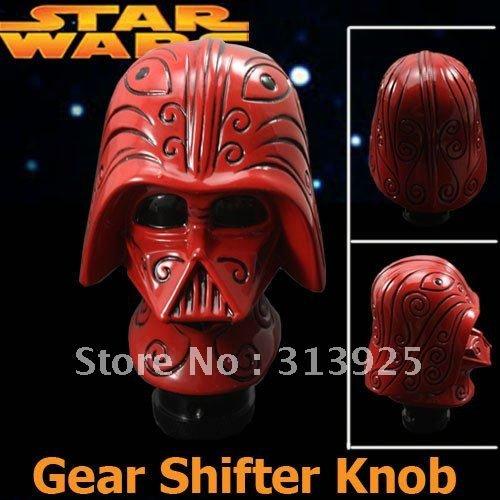 D1 Universal Fit (RED) Starwars Darth Vader Head Shift Knob (BRAND NEW)