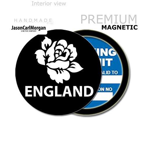 JCM England Rugby Rose MOT License Tax Disc Permit Holders, Black JasonCarlMorgan