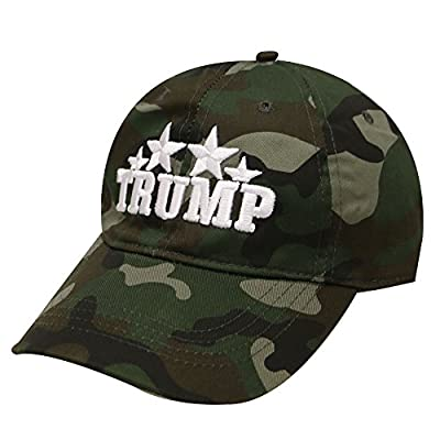 C104 Donald Trump with Stars Camouflage Cotton Baseball Cap 2 Colors