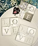 'Love' Coasters: Glass Coaster Wedding Favors, 32