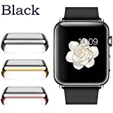 Josi Minea Apple Watch [42mm] Protective Snap-On Case with Built-in Clear Glass Screen Protector - Anti-Scratch & Shockproof Shield Guard Full Cover for Apple Watch Series 2 - 42mm [ Black ]