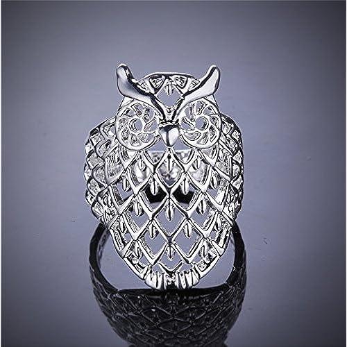 HMILYDYK New Arrival Jewelry Fashion 925 Sterling Silver plate Owl Shape Silver Ring For Women Men