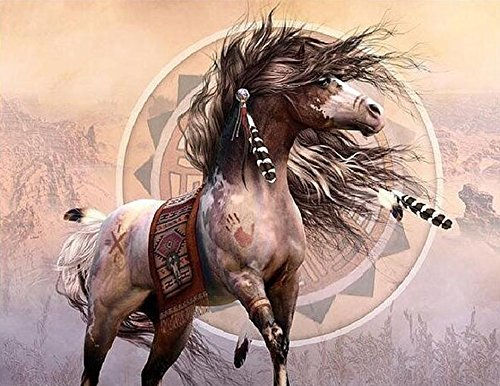 - Yumeart DIY 5D Diamond Mosaic Cross Stitch Painting Colorful Horse Set Rhinestones Resin Hobby Craft Home Decor