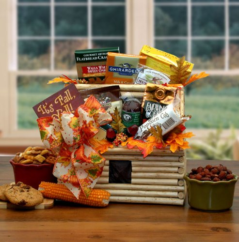 A Warm Southern Thanksgiving Greeting Gift Basket - Filled with Gourmet Snacks