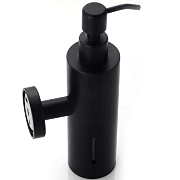 304 Acero inoxidable Dispensador de jabón Negro Tipo de prensa Colgante de pared Jabón Dispensador Gel de ducha Champú