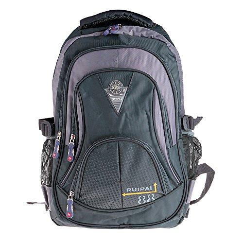 Vbiger Unisex School Backpack Cute Book Bag for Girls Boys Large and Lightweight Daypack (Grey)