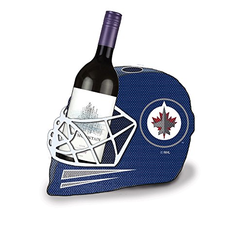 Team Sports America Winnipeg Jets Goalie Helmet Bottle and Cork Cage Holder