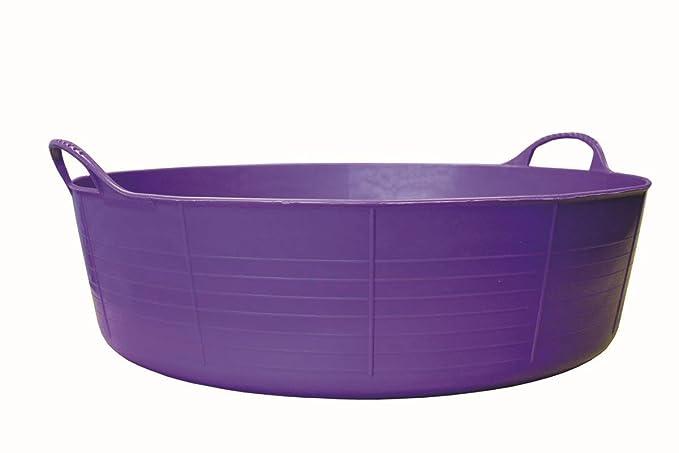 Tubtrugs Baquet flexible à 2 anses en matériaux recyclés Violet Taille L 35l