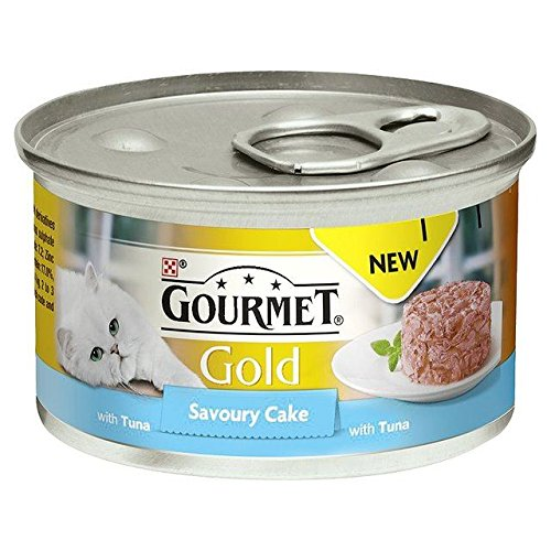 (Gourmet Gold Savoury Cake Adult Cat with Tuna 85g (PACK OF 4))