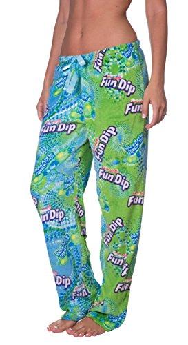 Licensed Women's Warm and Cozy Plush Pajama/Lounge Pants (Large, Fun Dip)