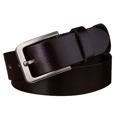 XDDQB Cinturón Hombre Cuero Cuero Genuino de Grano Complet ...