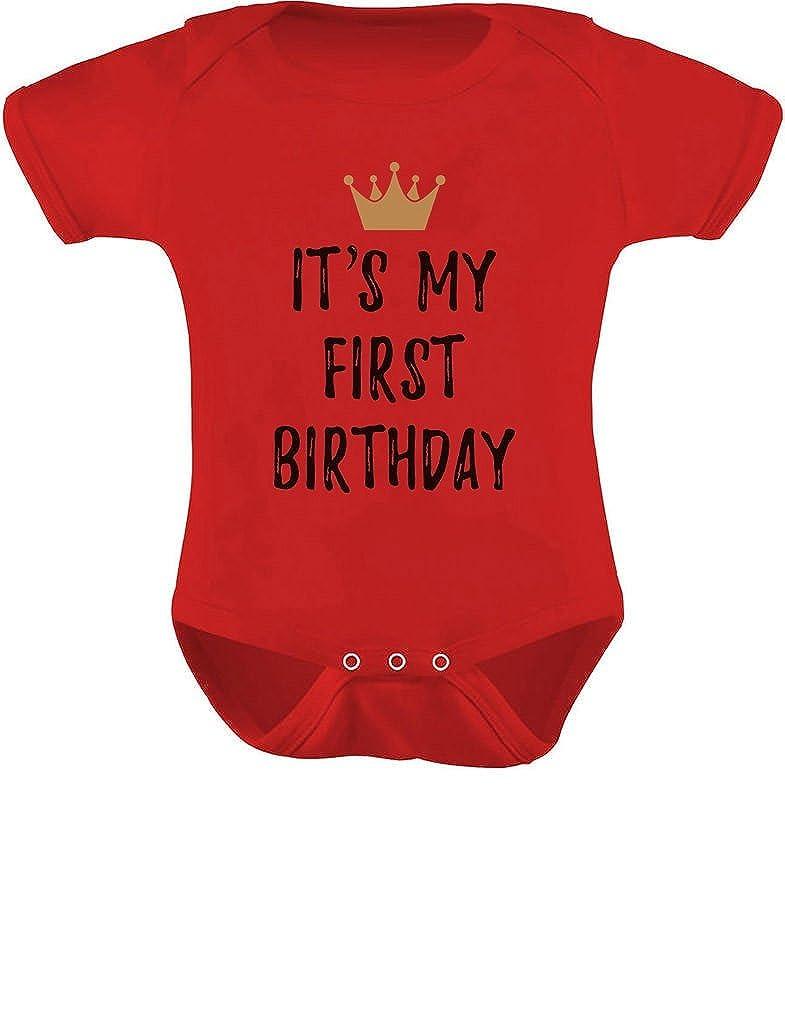 Tstars 1st Bday One Year Old First Birthday Gift Boy//Girl Baby Bodysuit
