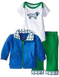 Baby Girls' 3 Piece Jacket, Top Pant Set