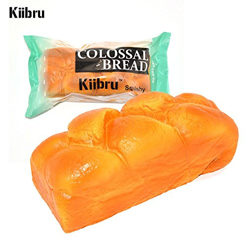 20CM Kiibru Colossal English Bread Squishy Super Slow Rising Bakery Scented Original Package 1PCS By Rabbit Malls. ()