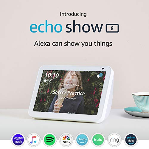 Echo Show 8 — HD smart display with Alexa – stay connected with video calling  – Sandstone