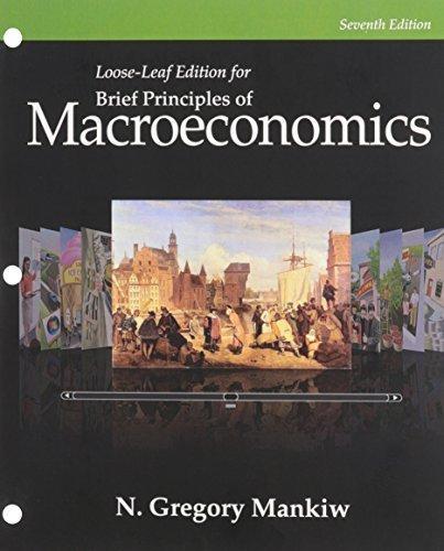 Macroeconomics gregory mankiw 7th edition