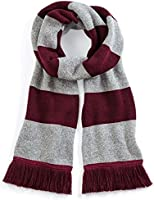 Beechfield Varsity Scarf Burgundy/Heather ONE