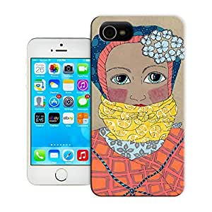 Unique Phone Case The girl creative collage art Bound Color Study Hard Cover for iPhone 4/4s cases-buythecase