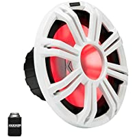 Kicker KMF122 12 Marine Subwoofer with LED White Grill 2 Ohm for Free Air Applications