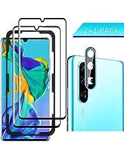 Luibor für Huawei P30 Pro Panzerglas(2 Stücke),Anti-Öl Anti-Bläschen Transparenz Gehärtetem Glas Displayfolie Schutzfolie für Huawei P30 Pro
