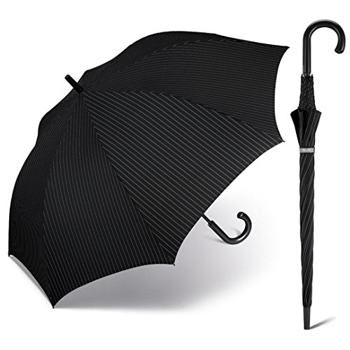 happy rain selection Herren Regenschirm Stockschirm Ø120cm Golf AC Kinematic mit Automatik gents needle stripe / Nadelstreifen