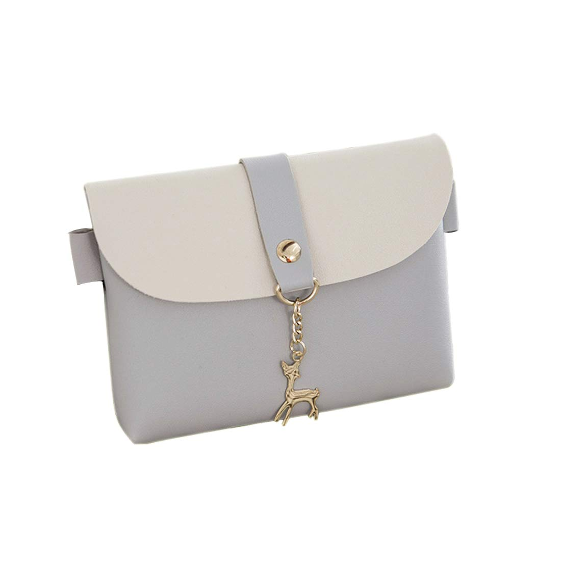 Crossbody Bag PU leather Small Purse Handbag for women,Grey