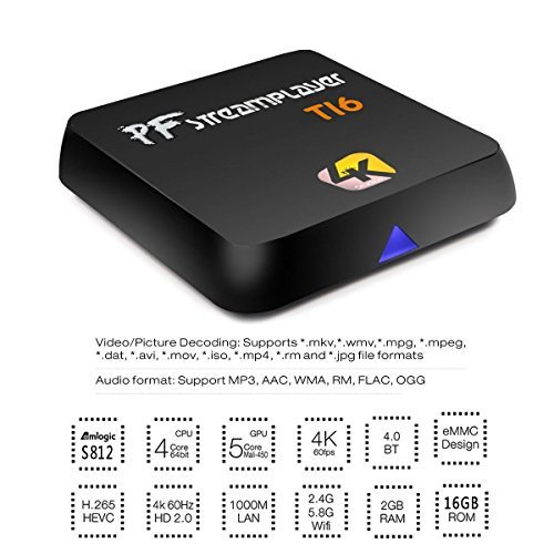 Pigflytech Ti6 Advance Mini PC Andriod Quad Core 2GB/16GB/4K/S912/802AC With Fully Remote App & Game Play Station