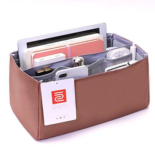 IN Purse Organizer,Handbag Organizer Insert for Speedy 25,30,35 Purse Liner Foldable (Medium, brown) by iN. (Image #3)