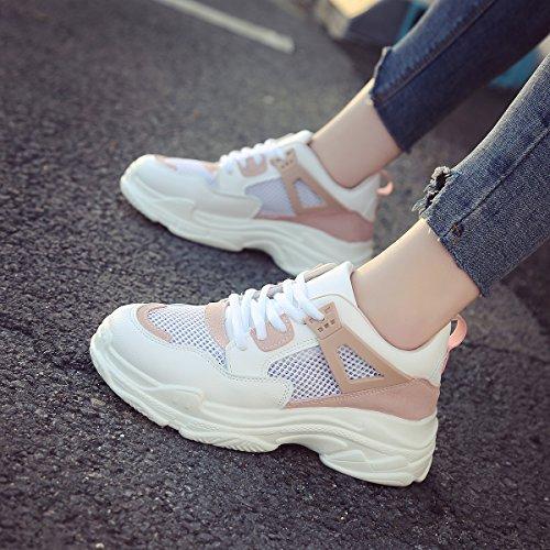 Deportes Zapatillas Montaña Mujer Deporte Zapatos Asfaltotranspirables Casual Rosa Aire Correr Y Para Libre De Kivors Gimnasio tSHBUq