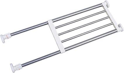 BAOYOUNI Estantería de acero inoxidable ajustable para armario, estantería extensible para organizar el cuarto de baño, la cocina, un armario, la ...