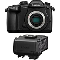 Panasonic DC-GH5KBODY Lumix 4K Mirrorless ILC Camera Body, 20.3 MP, Wi-Fi + Bluetooth with 3.2 LCD, Black (Audio Adapter Bundle)