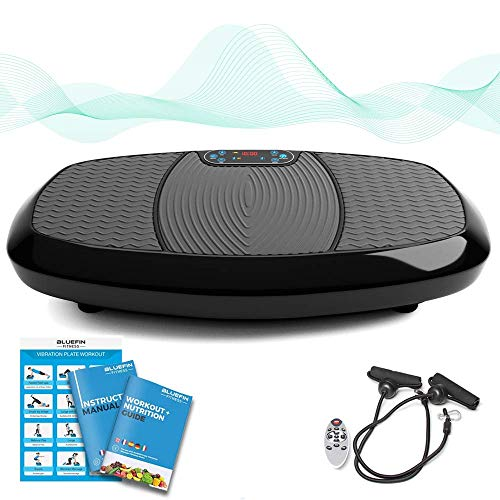 Bluefin Fitness Dual Motor 3D Vibration Platform | Oscillation, Vibration + 3D Motion | Huge Anti-Slip Surface | Bluetooth Speakers | Ultimate Fat Loss | Vibration Plate | Get Fit at Home