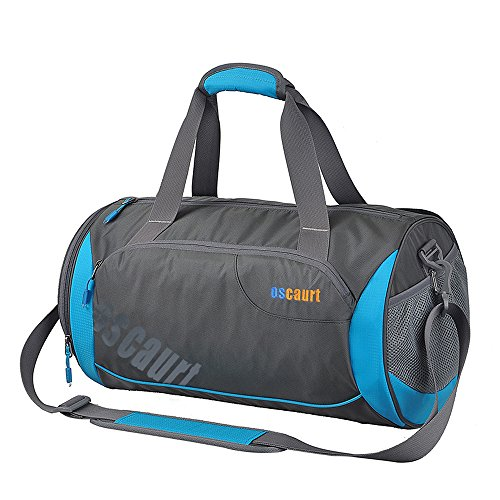 Oscaurt Gym Duffle Sport Bag with Large Ventilated Shoes Basketball Compartment For Travel,Gym,Yoga Blue 22