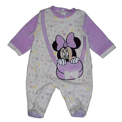 Disney Minnie – Pijama chenilla Lila para bebé 3/6 mesi lilla