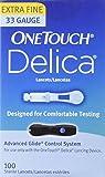 Lifescan Onetouch Delica Lancets, 33 Gauge, 100 Count